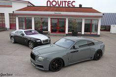 Before and after  Czyli Rolls-Royce Wraith oraz Spofec Overdose. Wolicie Rollsa w klasycznej, fabrycznej odsłonie czy może nieco szaloną, szeroką wizję Noviteca? Oficjalny Dealer NOVITEC GROUP GranSport - Luxury Tuning & Concierge http://gransport.pl/index.php/novitec.html