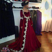 Online Shop فستان سهرة قفطان تركي من Sevintage فستان مسلم بأكمام طويلة دبي فساتين حفلات عربية دان Long Sleeve Evening Gowns Muslim Prom Dress Velvet Prom Dress