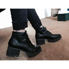 991cc7c9987 Platform with zipper buckle Black YRU clueless boots. Worn once or twice.  Clueless