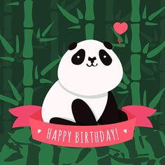 Vector illustrations (backgrounds and cards) with panda and bamboo seamless patterns in three colors Happy Birthday For Her, Happy Birthday Pictures, Happy Birthday Funny, Happy Birthday Messages, Birthday Love, Happy Birthday Greetings, Happy Birthday Quotes, Birthday Ideas, Sister Birthday