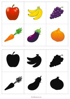 Fruit & Vegetable Shadow Match Puzzle and Clip Card Pack Preschool Learning Activities, Preschool Worksheets, Infant Activities, Preschool Activities, Activities For Kids, Tracing Worksheets, Flashcards For Toddlers, Kids Education, Kids And Parenting