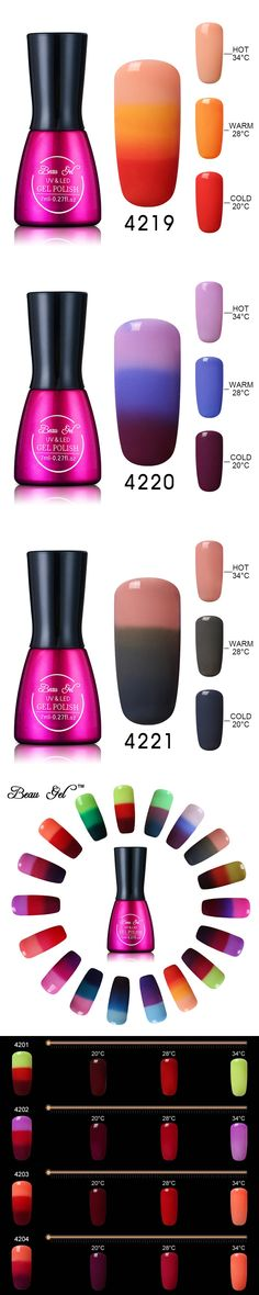 Beau Gel Nail Gel Polish Chameleon Temperature Change Color UV Nail Polish 7ml Varnish Long Lasting Soak Off Polish