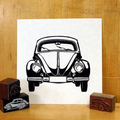 A personal favorite from my Etsy shop https://www.etsy.com/listing/79210993/volkswagen-love-bug-linocut
