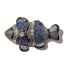 """""""Sparkle of the Sea"""" Crystal Fish Pin - Pins - Shop Jewelry 