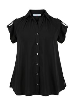 Plus Size Roll Sleeve Tunic Shirt   Plus Size Shirts & Blouses   Avenue