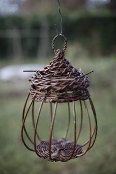 Willow bird feeder. #Willow #Weaving #Sculpture