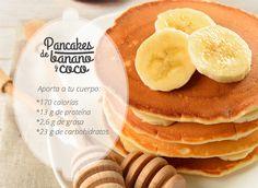 Pancakes de Banano y Coco
