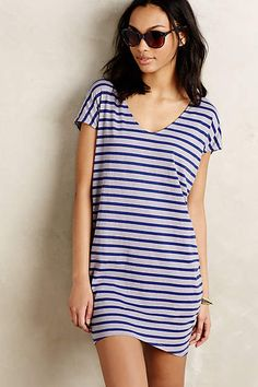 Striped Cocoon Dress - anthropologie.com