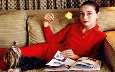 Audrey Hepburn at home