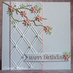 Memory Box branch die and a lattice embossing folder