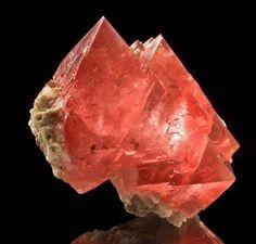 blush pink Fluorite Octahedron Pyramids. Sacred Geometry + heart center