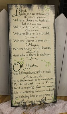 St. Francis Prayer/The Prayer of Saint Francis/Prayer of Saint Francis of Assisi/Prayer Art/Greens