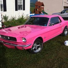 Pink Mustang Classic : Girly Cars Pink Cars Every Women Will Love! gear4gearheads #gear4gearheads www.gear4gearheads.com