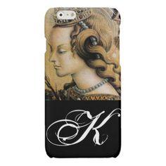 Saint Catherine of Alexandria Monogram Glossy iPhone 6 Case - makeup artist gifts style stylish unique custom stylist