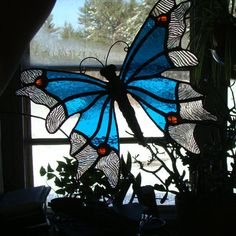 Stained Glass Butterfly by fairyladyglass on Etsy, $48.00