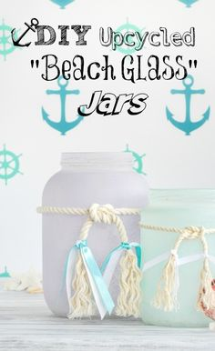 DIY Beach Glass Jars