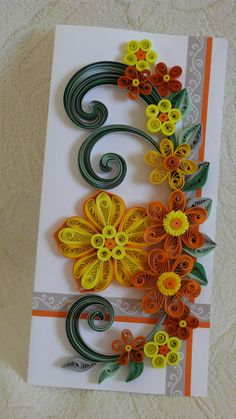 Quilling Art Greeting Card -Birthday - Wedding - Mother's Day - Paper Quilling