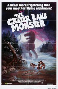 Crater Lake Monster (1977) / The storyline revolves around a giant plesiosaur, akin to the Loch Ness Monster, which appears in Crater Lake in Northern California, near Susanville (not to be confused with the much more famous Crater Lake in Oregon). As people are attacked by the monster, the Sheriff (Cardella) investigates along with a group of scientists in order to stop the creature.   The film is mostly notable for being an example of David W. Allen's early stop-motion animation.