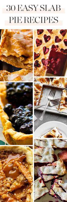 30 Easy Slab Pie Recipes to Make All Winter Long. #slabpie #pierecipes #holidaypies #holidayrecipes #desserts #holidaydesserts #dessertideas
