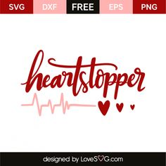 *** FREE SVG CUT FILE for Cricut, Silhouette and more *** Heartstopper