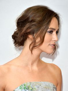 Here's how to get Keira Knightley's chic relaxed chignon. #hair