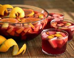 Best Party Sangria Recipe  Prep Time: 5 Minutes  Ingredients  1 Bottle of red wine (Cabernet Sauvignon, Merlot, Rioja, Zinfandel, Shiraz) 1 Lemon cut into wedges 1 Orange cut into wedges 1 Lime cut into wedges 2 Tbsp sugar Splash of orange juice or lemonade 2 Shots of gin or triple sec (optional) 1 Cup of raspberries or strawberries (may use thawed or frozen) 1 Small can of diced pineapples (with juice) 4 Cups ginger ale
