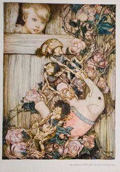 from ''Stories from a Magic World'', illus. Gustaf TENGGREN | David Brass *~❤•❦•:*´`*:•❦•❤~*