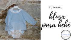 Hoy vamos a hacer una blusa de bebé talla 0-3 meses, ideal para conjuntar con el cubre-pañal que aprendimos a hacer en el anterior videotutorial !!!!