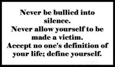 I have to remember this! People are always making me fall silent and assuming they know my life and business! Guess what? You don't!!