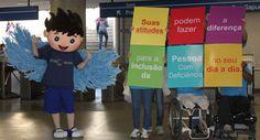 Pregopontocom Tudo: Campanha de inclusão social no metrô  - CBTU  Cidadania  A campanha é uma realização da Associação Mineira de Reabilitação (AMR) em parceria com a CBTU Belo Horizonte e estará nas estações também no dia 8 de agosto.O carismático mascote da campanha estará de volta ao metrô, interagindo com os usuários.