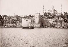 Bizans Bukoleon sarayı, Byzantion Bukeleon palace, Kennedy street - Istanbul.