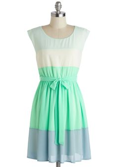 Sash Decision Dress. There was no need to deliberate when it came to this mint dress - the moment you laid eyes on it, you knew it had to be yours! #mint #modcloth