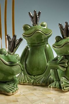 Prince Charming Frogs - Green - Set of 3 on HauteLook