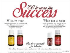Job interview success: what to wear - Lemon and Bergamot. What not to wear - root based oil like Vetiver or Ylang Ylang