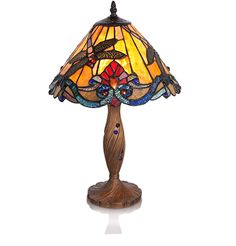 Swirling Dragonflies Table Lamp