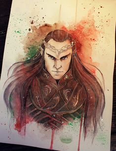 Society6 FACEBOOK TUMBLRETSY Lord Elrond I was so glad to see him it the Hobbit movie!  Done with watercolors in moleskine journal edited in PS</h1></h1>