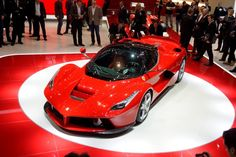 pUnveiling: The stunning LaFerrari is shown off at the Geneva Motor Show (SWNS)/p