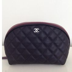 Chanel Small leather cosmetic bag. good for makeup