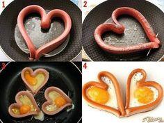 Valentines Breakfast, Valentines Day Food, Cute Food, Good Food, Yummy Food, Breakfast Recipes, Snack Recipes, Cooking Recipes, Breakfast Ideas