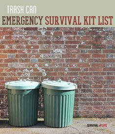 Trash Can Emergency Survival Kit List | Survival Life