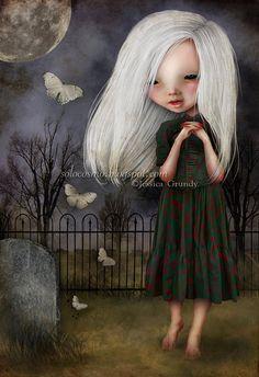 Little Girl Art Print 'Pelottava'  Little Girl in by solocosmo, $15.00
