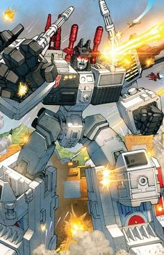 Awesome shot of Metroplex in action.