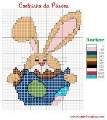 graficos ponto cruz, coelhos - Pesquisa Google
