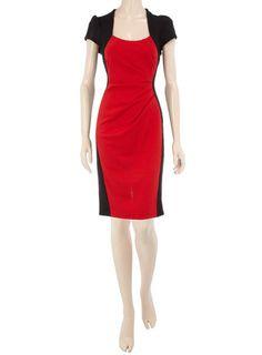 Dorothy Perkins Black and Red Ponte Dress $49