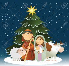 Resultado de imagen para dibujos de nacimientos navideños