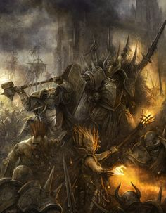 Warhammer Fantasy Chaos Warriors vs The Empire
