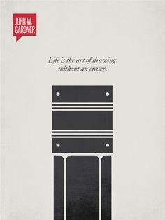 Minimalist Poster Quote John W. Gardner   Design Different