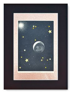 La terre isolée dans l'espace Deco Originale, Decoration, Creations, Moon, Celestial, Collage Art, Diy, Outdoor, Wall Of Frames