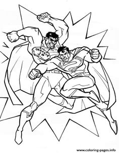 Superman Punching Coloring Pages Printable And Book To Print For Free Find More Online Kids Adults Of