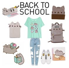 """""""#PVxPusheen"""" by natalie948 ❤ liked on Polyvore featuring Pusheen, Topshop, adidas Originals, contestentry and PVxPusheen"""